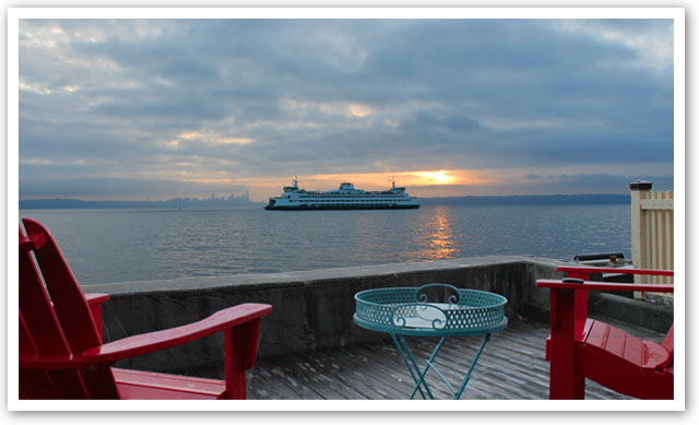 View from Rockaway Beach Bainbridge Island