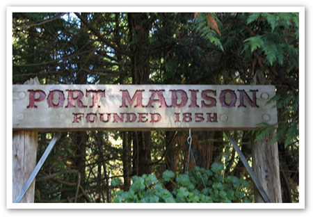 Port Madison Founded Sign