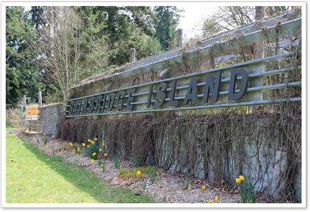 Welcome to Bainbridge Island Sign - Seabold